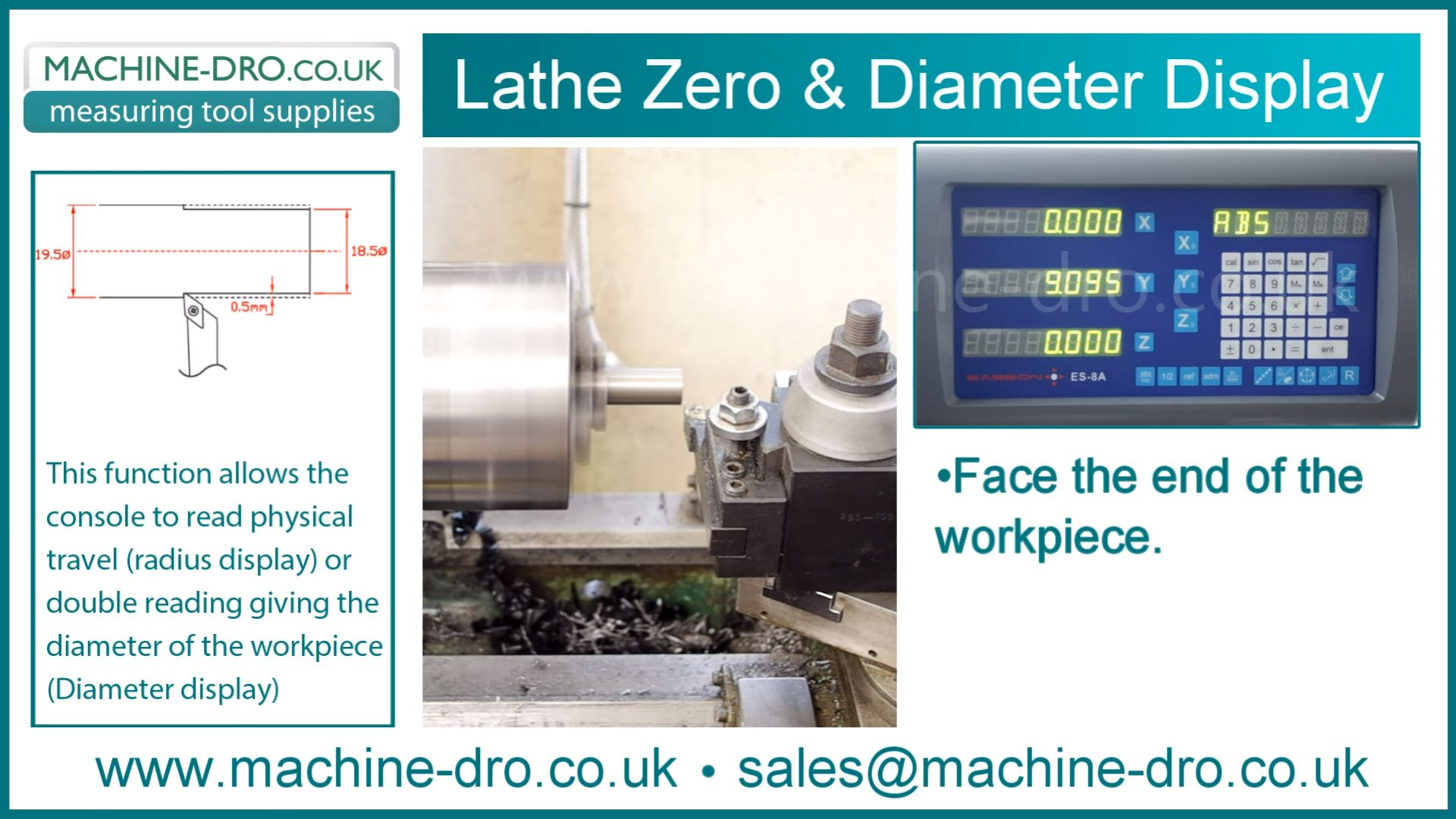 Lathe Zero and Diameter Display