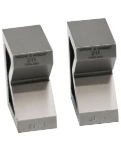 "Moore and Wright Standard Pair Vee Blocks 63mm/ 2.48"" - 200 Series"
