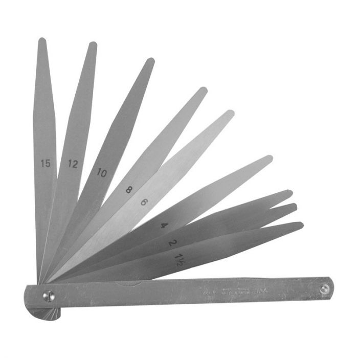 Moore and Wright Imperial Feeler Gauge -10 blades, 6