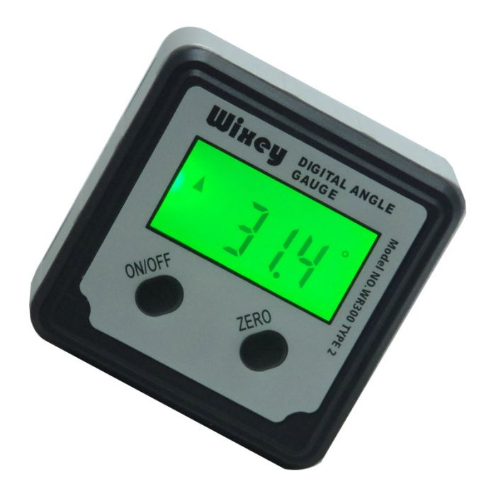 Wixey Digital Angle Gauge WR300 Type 2 with Magnetic Base and Backlight
